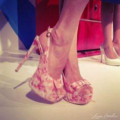 Printed heels at Alice + Olivia #NYFW