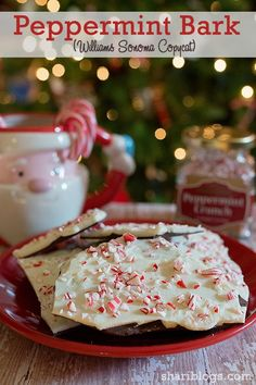 Bark (A Williams Sonoma Copycat) Peppermint Bark (Williams Sonoma Copycat) Christmas Desserts, Christmas Treats, Holiday Treats, Holiday Recipes, Christmas Cookies, Christmas Recipes, Christmas Candy, Xmas, Holiday Fun