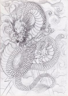 Dragon Tattoo is one of the most popular mystical tattoos. - Dragon Tattoo is one of the most popular mystical tattoos. Like most other mythological tattoos, dr - Dragon Tattoo Flash, Dragon Tattoo Art, Asian Dragon Tattoo, Japanese Dragon Tattoos, Japanese Tattoo Art, Japanese Tattoo Designs, Dragon Tattoo Designs, Dragon Art, Japanese Art
