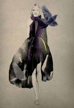 Fashion illustrator, Cecilia Carlstedt, hails from the Nordic country of Sweden