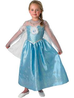 Girl's #Disney #Frozen Elsa Snow Queen Deluxe Costume. Disney's latest release brings us some new #fancydress costumes for your little Princesses