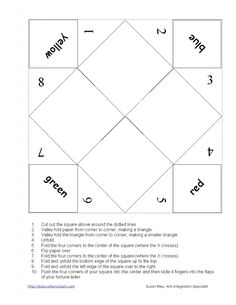 how to make a chatterbox template - downloadable customizable printable paper fortune teller