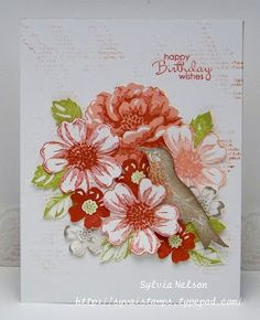 colourQ Love the idea of only a bunch of blossoms as the front of a card