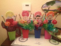 Snoopy and Peanuts Gang center pieces