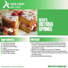 KSFL Clean victoria sponge Join our free mailing list for more recipes, workouts and motivationals Clean Eating Recipes, Healthy Eating, Healthy Recipes, Fat Fighters, Victoria Sponge, Gluten Free Flour, Recipe Of The Day, Tasty, Cleaning