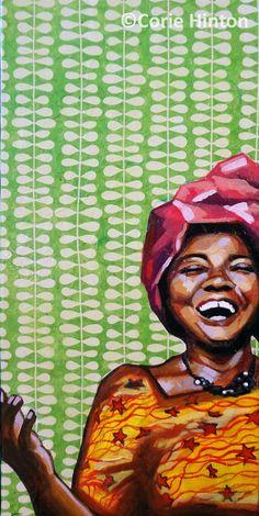 """Art Print, African woman, 8""""x10"""", """"PRECIOUS"""""""