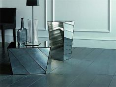 Square coffee table Bollywood Collection by Casamilano | design Paola Navone #mirror