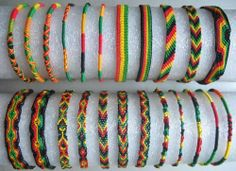 Rasta Friendship Bracelet   eBay