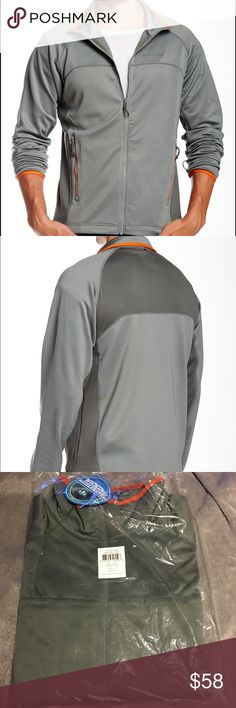 Columbia Evap Change a fleece Jacket XL NWT Men's Columbia Zip Sweater  Evaporate Chase Fleece sweater Gray  X-Large 2 front zip pockets Contrast Draw cord hem Moisture wicking panels Long sleeves, stretch cuffs Funnel neck  91% polyester, 9% elsatane 92% polyester, 8% elastane Machine wash cold  Brand New with Tags!! : $85  Men's Columbia Zip Sweater Gray XL Columbia Jackets & Coats Performance Jackets