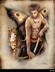 Lynx... Warrior Fay... Men Fairy Picture Art... by mysticmoonmedia