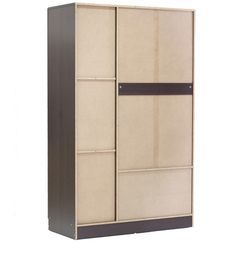 Buy Nashiro Three Door Wardrobe with Two Drawers in Chocolate Beech Finish by Mintwud Online - Modern 3 Door Wardrobes - Modern 3 Door Wardrobes - TEST - Pepperfry Product How To Clean Furniture, Modern Furniture, Three Door Wardrobe, Wardrobe Furniture, Hot Pads, Burning Candle, Wardrobes, Drawers, It Is Finished