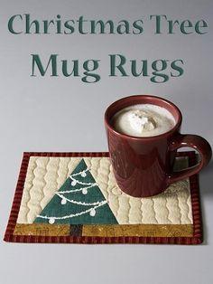 DOWNLOAD PATTERN   Christmas Tree Mug Rug