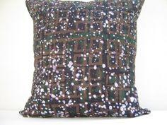 Throw Pillow Cover 17 x 17 Batik Print Tie dye by AddisonMade, $47.51