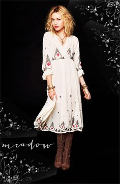Embroidered Peasant dress - Free People <3 <3 it !