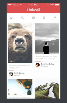 #Pinterest #Redesign Concept