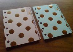 FILOFAX POCKET Compatible A-Z Planner DIVIDERS Coral Pink/Mint & Gold Spots #227