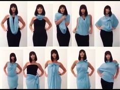 10 Creative Ways to Wear a Scarf - YouTube