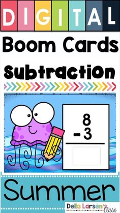 Digital Boom cards are perfect for remote learning over the summer. This bundle has addition, subtraction, place value, 2D shapes, CVC words, reading comprehension, sight words, and silent e practice. Keep your kindergarten student learning during the summer. Great first grade readiness. Stop the summer slide with Boom Cards Toddler Learning, Student Learning, Fun Learning, Learning Activities, Teaching Resources, Shape Activities Kindergarten, Phonics Activities, In Kindergarten, Preschool