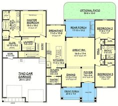 Plan 51755HZ: 3 Bed Contemporary Craftsman with Bonus Over Garage