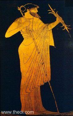 Zeus, king of the gods, with lightning bolt | Greek vase, Athenian red figure amphora