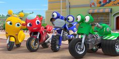 'Ricky Zoom' is a new series from the creators of Peppa Pig, a Rai Ragazzi production with eOne and the Italian studio Maga Animation. Precious Moments Quotes, Learn To Fly, Kid Character, Cartoon Tv, Kids Shows, Animation Series, New Adventures, New Series, Peppa Pig