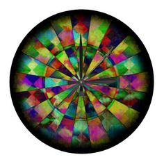 Psychedelic colors by Valxart.com Round Wall Clocks
