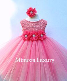 Super cute tutu dress in coral  