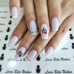 Glitter French Manicure, Manicure And Pedicure, Gel Acrylic Nails, Acrylic Nail Designs, Cute Nails, Pretty Nails, Luminous Nails, Nails Short, Beautiful Nail Designs