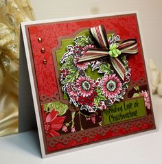 Christmas card handmade greeting card caught up in the christmas christmas card handmade greeting card caught up in the christmas spirit ooak handmade greetings cards and christmas cards m4hsunfo