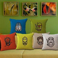 Cotton Linen Throw Star Wars Cushion Cover Pillow Case Sofa Car Home Decor Gift in Home, Furniture & DIY, Home Decor, Cushions | eBay
