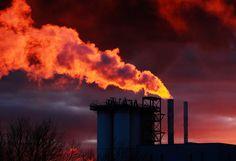Fire breathing Unilever factory, Warrington..   Flickr - Photo Sharing!