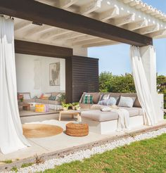 Spanish style house with pergola Outdoor Areas, Outdoor Rooms, Outdoor Living, Outdoor Decor, Outdoor Patios, Outdoor Kitchens, Outdoor Structures, Porch And Terrace, Terrasse Design