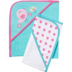 Gerber Newborn Baby Girl Terry Hooded Baby Chicks Bath Towels - 2 Pack - Walmart.com