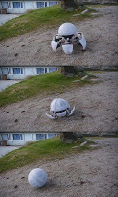 Creepy Hexapod Robot Can Transform, Roll Out in a Ball