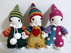 Cuddly baby crochet dolls pattern by Mari-Liis Lille & work by 퉁퉁이