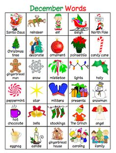 List of words for writing center.Christmas words before the holidays, etc. Love this idea! Christmas Writing, Preschool Christmas, Christmas Activities, Christmas Worksheets, Holiday Words, Christmas Words, Christmas Quiz, Retro Christmas, Christmas Christmas