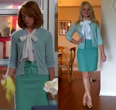 What Would Emma Pillsbury Wear?: Channeling Emma - Nicolle and Bow Skirt: A Love Story Geek Chic Fashion, Glee Fashion, Classic Outfits, Cool Outfits, Aqua Outfit, Preppy, Emma Style, Bow Skirt, Bcbg