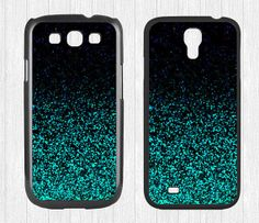 Glitter Samsung Galaxy S3 S4 Case,Mint Sparkle Glitter Galaxy S3 S4 Hard Case,cover skin Case for Galaxy S3 S4,More  - Printed Glitter Image