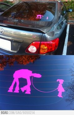 Sweet Star Wars car sticker.