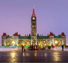 Christmas Lights on Parliament Hill, Ottawa, Ontario, Canada