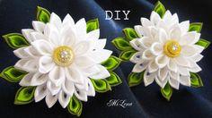 Резинки канзаши, МК / DIY Scrunchy with Kanzashi flowers