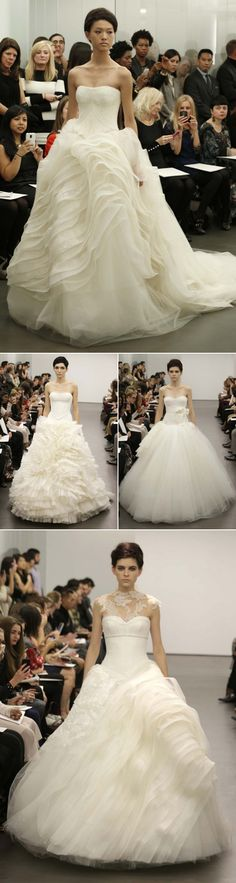 Vera Wang - Bridal Market October 2012 (love the piece at the top of the last dress)