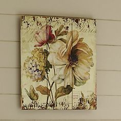 Vintage Floral Plaque from Through the Country Door® | N242567