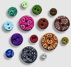 Make your own buttons with Fimo clay.