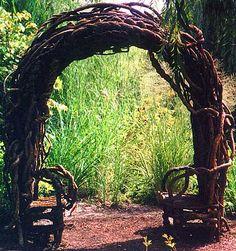 Sitting Arbor Grounds for Sculpture Hamilton, NJ Laura Spector Design visit her site for more beautiful work & inspiration