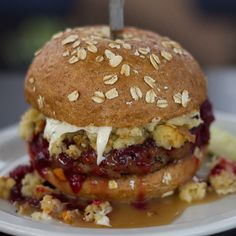 Happy almost Thanksgiving!     Thanksgiving Burger @ Slater's 50/50 Burgers By Design