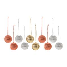 IKEA - VINTER 2015, Decoration, bauble, Easy to hang up since it comes with string already attached.Made of a durable material which does not break if they are dropped.