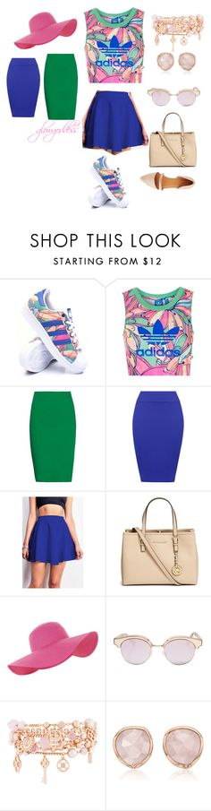 """casual"" by glowgoddess on Polyvore featuring adidas, Topshop, Tomas Maier, WearAll, Michael Kors, Accessorize, Le Specs, Henri Bendel, Monica Vinader and Charlotte Russe"