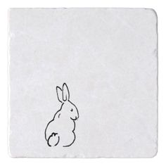 animal drawings simple Minimal Black Bunny Rabbit Drawing Simple Nature A Trivet Mini Drawings, Cute Easy Drawings, Doodle Drawings, Doodle Art, Drawing Sketches, Simple Animal Drawings, Rabbit Drawing Easy, Easy Nature Drawings, Bunny Sketches