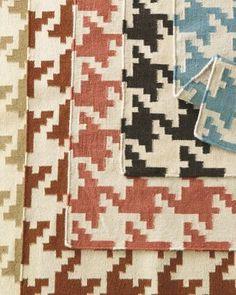 Houndstooth Flat-Weave Wool Rug